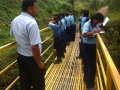 1. JU fifth graders on the bridge 2
