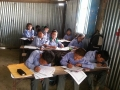Raithane students composing their messages 1
