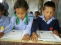 Raithane students reading the messages