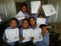 Raithane students with messages 2