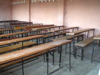 classroom benches (Copyright © 2013 Dorje Gurung)