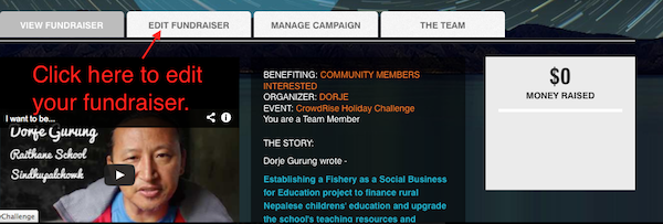 5. crowdrise personal fundraising page