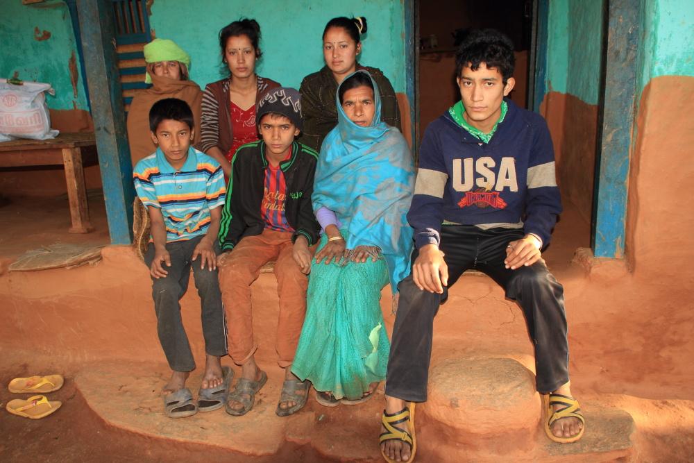 Bishnu and family.