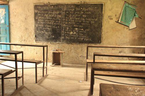 Raithane school classroom - front