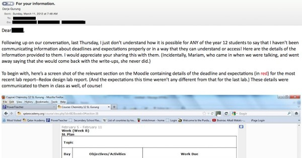 email to counsellor