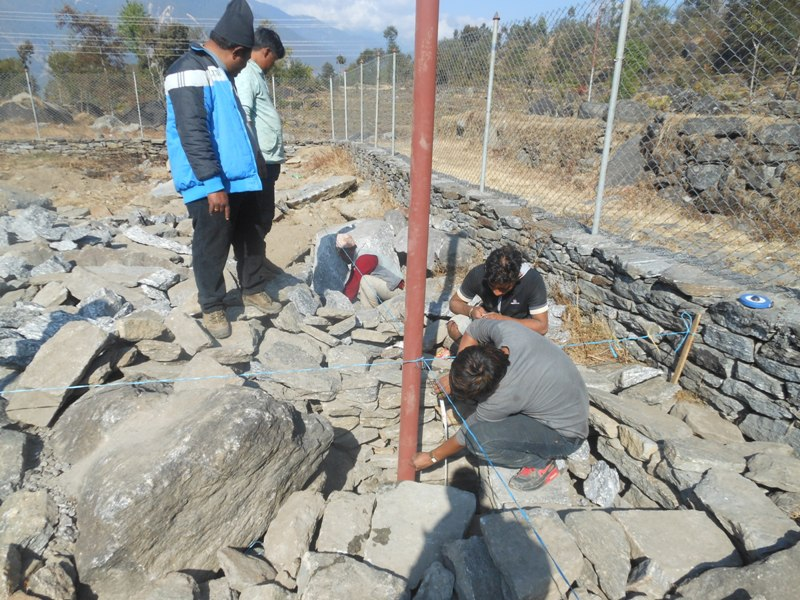 Taltuleshwori reconstruction beginning Jan 2016