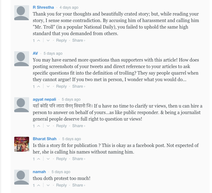 6. Arresting a Troll Comments 6-10