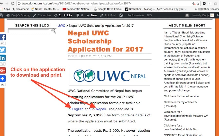 Downloading UWC Scholarship Application Form Fee Waiver – Scholarship Application Form
