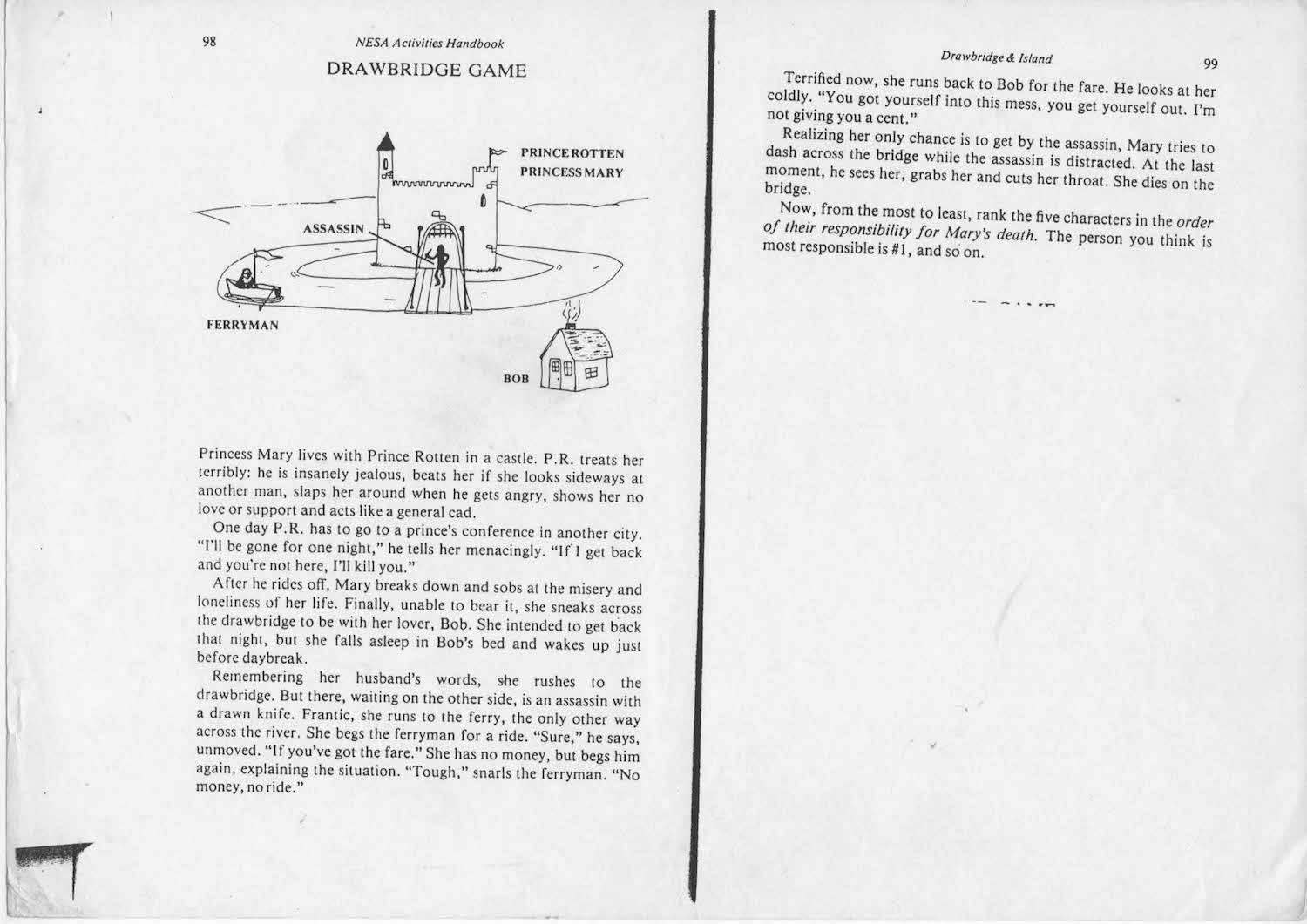 Drawbridge Game Adapted For Nepalis Dorjes Dooing Assassin Wiring Diagram We Did The Original Version Of This Exercise