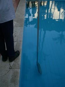 rod in pool vertical