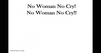 no woman no cry-feat image