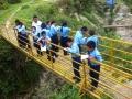 4. JU fifth graders on the bridge 4