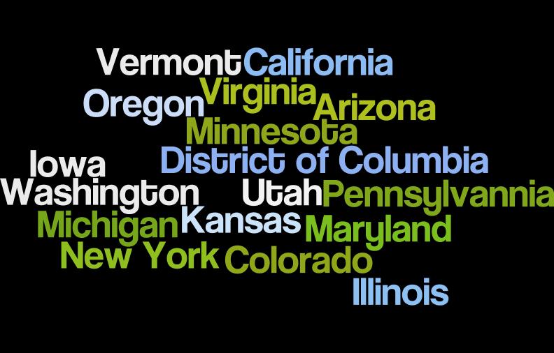 States Visited March-July V1