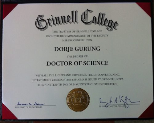 Read more about the article Grinnell College: Text of Honorary Degree Acceptance Speech