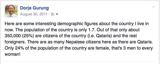 qatar demographics