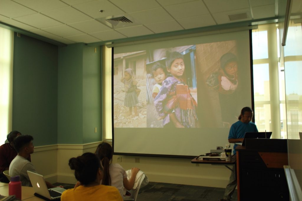 Talking about the children of Thangpalkot and rural Nepal, and how they suffer.