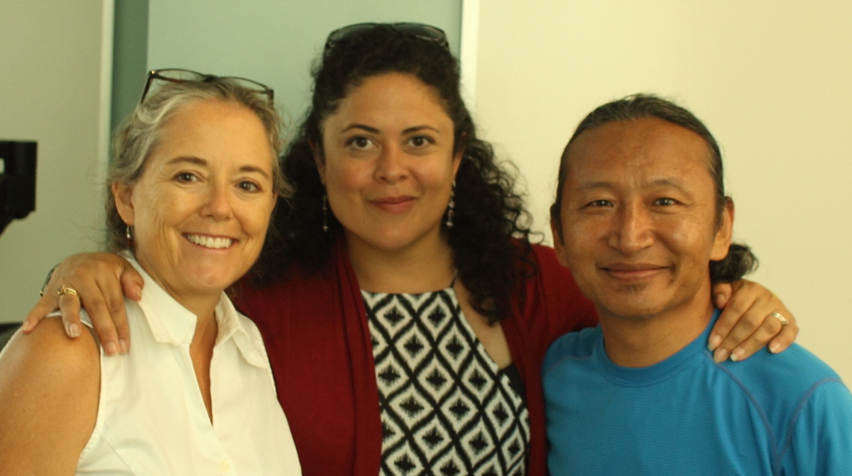 With Maya (President Obama's sister) and my dear friend Kirsten, who introduced me to Maya, at University of Hawaii.