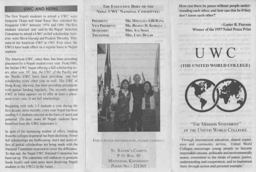 Read more about the article UWC Scholarships, Nepotism and Conflict of Interest