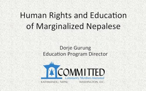 Read more about the article Human Rights and Education of Marginalized Nepalese