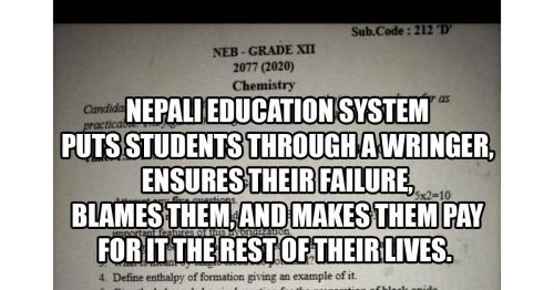 Read more about the article A Lesson From Nepal: How to Fail Your Students Part II
